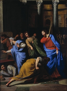Christ Expelling the Money-changers from the Temple by Nicolas Colombel