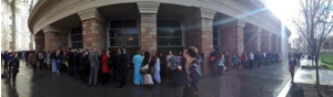 The line wrapped around the tabernacle.